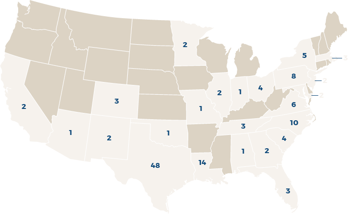 Number of advisors per state